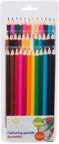 36 stuks kleurpotloden in plastic hoes - tekenen en kleuren voor kinderen
