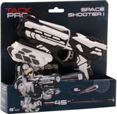 Tack Pro Space Shooter 18cm 6 Darts Blaster Zwart/Wit (darts incl)