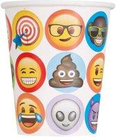 8 kartonnen Emoji™ bekers - Feestdecoratievoorwerp