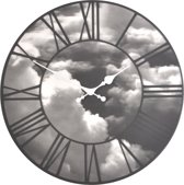 NeXtime Wandklok Clouds Kunststof