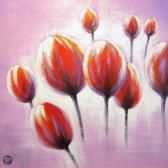 Bloemen Schilderij 100cmx100cm
