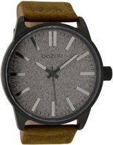OOZOO Timepieces C9062 - Horloge - Donkerbruin/Grijs/Zwart - 48mm