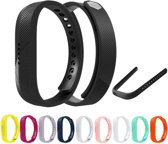 Siliconen Horloge Band Voor Fitbit Flex 2 - Armband / Polsband / Strap / Sportband - Small - Zwart