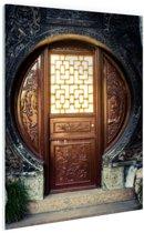 Traditionele Chinese deur  Glas 120x180 cm - Foto print op Glas (Plexiglas wanddecoratie) XXL / Groot formaat!