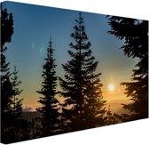 FotoCadeau.nl - Zonsopkomst nationaal bos Canvas 60x40 cm - Foto print op Canvas schilderij (Wanddecoratie)