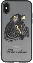 Zebra TPU backcase cover Hoesje voor Apple iPhone X
