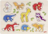 Goki Forest animals, lift-out puzzle