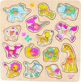 Goki   Houten puzzel - Susibelle (met knopjes)