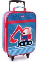 Kidzroom GRAAFMACHINE Trolley Handbagage Blauw Kinder Koffer