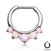 Piercing clicker 5 set opal roze ©LMPiercings