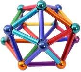 Magnetische Sticks - Magneetballetjes - Bouwset - 3D puzzel - Braintrainer - magneet staafjes - stalen ballen