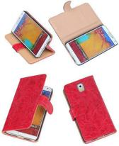 Bestcases Vintage Rood Book Cover Samsung Galaxy Note 3