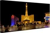 FotoCadeau.nl - Verlichte Las Vegas strip Canvas 60x40 cm - Foto print op Canvas schilderij (Wanddecoratie)