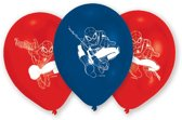6 Latex Balloons Spider-Man 22.8 cm/9