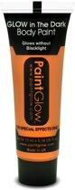 Glow in the Dark Face & Body paint Oranje 10 ml