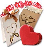 Cadeauset kadoset giftset huwelijk bruiloft hart kaars wenskaart cadeautas cadeaulint huwelijkscadeau huwelijkskado
