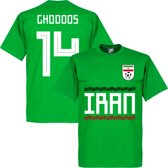 Iran Ghoddos 15 Team T-Shirt - Groen - S
