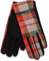 Handschoenen met Ruit - Dames - Touchscreen Tip - Oranje - Dielay