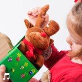 Pluchen Kerstknuffel met Geluid in een Decoratieve Doos