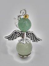Aventurijn engeltje - Aartsengel Rafael zilverkleur