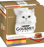 Gourmet Gold Hartig Torentje - Vlees - 6 x (8 x 85) g