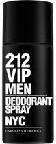 MULTI BUNDEL 3 stuks Carolina Herrera 212 Vip Men Deodorant Spray 150ml