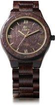 Nieuw - Topkwaliteit Trendy Houten Horloge - Edition: Dark Wood - LeeEv