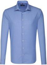 Seidensticker overhemd tailored fit blauw, maat 45
