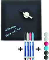 Desq magnetisch glasbord set PRO 35x35 cm cool grey