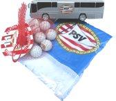 PSV supporters pakket spelersbus knikkers sjaal voetbal kampioen bus