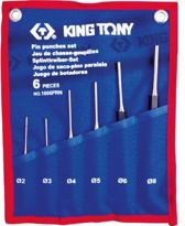 KING TONY 6DLG SPILDOORSLAGENSET 2-8MM
