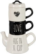 Tea For 2 Love Keramiek Zwart Wit