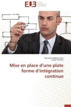 Mise En Place D Une Plate Forme D Int�gration Continue
