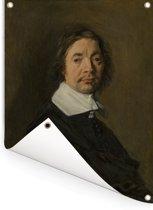 Portret van een man - Kunstwerk van Frans Hals Tuinposter 60x80 cm - Tuindoek / Buitencanvas / Schilderijen voor buiten (tuin decoratie)
