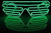 El Wire Shutter bril Limoen groen - El Wire Shutter glasses Lime green