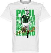 Paul McGrath Legend T-Shirt - Wit - XS