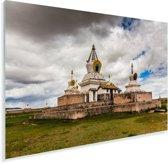 Donkere wolken boven het Aziatische Erdene Zuuklooster in Mongolië Plexiglas 90x60 cm - Foto print op Glas (Plexiglas wanddecoratie)