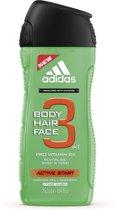 Adidas Active Start Hair & Body Douchegel - 250 ml