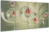Glasschilderij Modern | Grijs, Bruin | 160x80cm 4Luik | Foto print op Glas |  F005182
