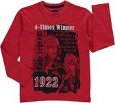 Losan Jongens Shirt Rood met print - g39 - Maat 128