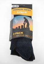Workers socks / heren kousen / zwart / 43-46  2 pack