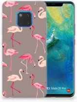 Huawei Mate 20 Pro Uniek TPU Hoesje Flamingo