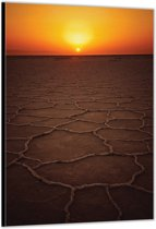 Dibond –Zonsondergang – 60x90cm Foto op Dibond;Aluminium (Wanddecoratie van metaal)