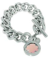 TOV Essentials 4leaf Bi-Colour Trinity Bracelet - Armband - Zilver/Rosé - 22 cm