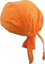 Oranje kleurige bandana uni 1