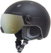 Sinner Titan Visor Unisex Skihelm - Zwart - Maat XL/62 cm