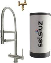 Selsiuz XL Inox (RVS) met Combi boiler