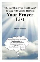 Your Prayer List