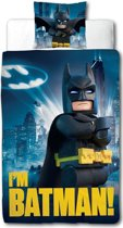 Dekbedovertrek Lego Batman Movie I am 135x198/48x74 cm