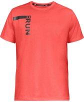 Under Armour Run Tall Graphic SS Sportshirt - Heren - Maat XXL - After Burn
